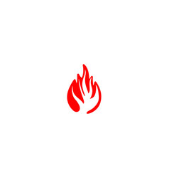 fire logo designs inspiration isolated on white vector image