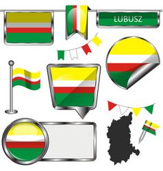 flag lubusz poland vector image
