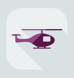 Flat modern design with shadow icon helicopter vector