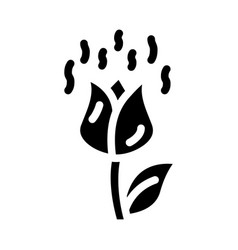 Flowers smell glyph icon sign vector