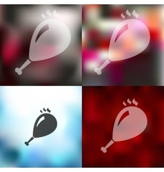 Gammon icon on blurred background vector