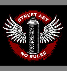 Graffiti spray can with wings vector
