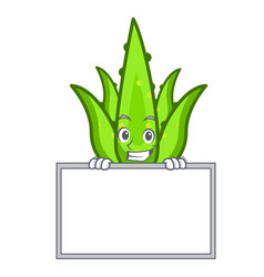 Grinning with board aloevera character cartoon vector