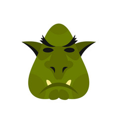 head of troll icon flat style vector image