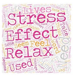 How stressed are you text background wordcloud vector image