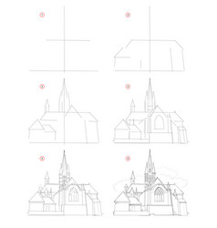 How to draw step step sketch imaginary vector