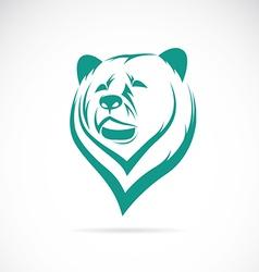 image an bear head vector image