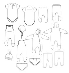 Kids underwear vector