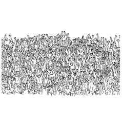 large group people crowded on stadium vector image