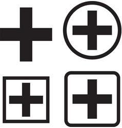medical icons set medical symbols vector image
