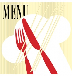 menu card pasta vector image