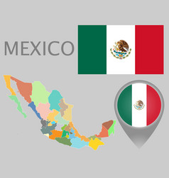 mexico administrative divisions vector image