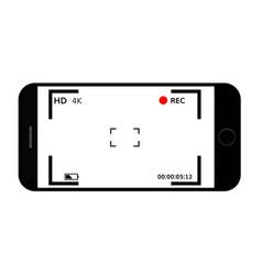 Mobile phone camera focusing screen vector