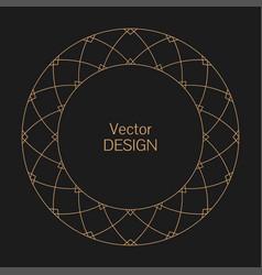 Monogram line vintage frame vector