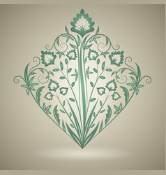 ornament floral vector image