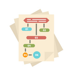 Paper workflow icon flat style vector