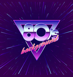 Paster for retro party 80s movement through vector