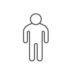 Person or man line outline icon vector