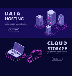 Personal data protection hosting solutions vector