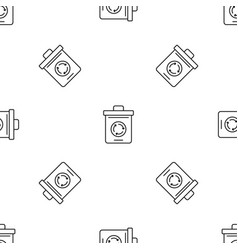 recycling pot pattern seamless vector image