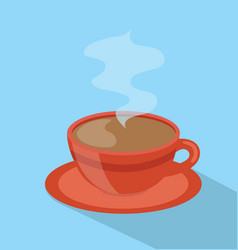 red coffee hot cup vector image