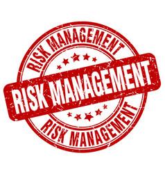 Risk management red grunge stamp vector