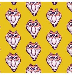 Seamless pattern background of owl vector image