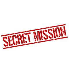 secret mission stamp vector image