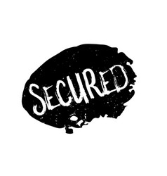 Secured rubber stamp vector