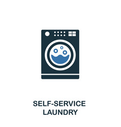 self-service laundry icon creative two colors vector image