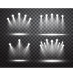 Set of realistic spotlights lighting vector