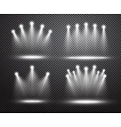 set realistic spotlights lighting vector image