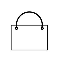 Shopping bag black color icon vector