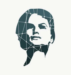 Silhouette of a female head vector