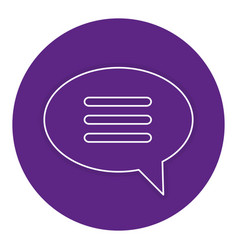 Speech bubble message icon vector