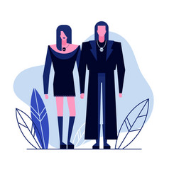 Subculture flat characters 3 vector