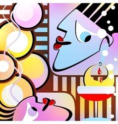 Surrealist composition Motley version vector image