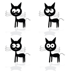 sweet and fuuny cat vector image