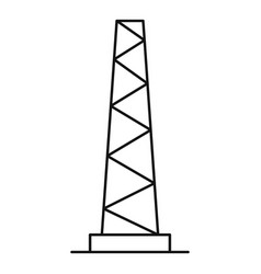 Tall pole icon outline style vector
