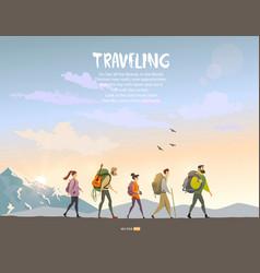 trekking vector image