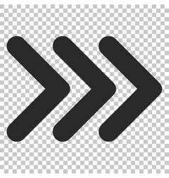 Triple Arrowhead Right Icon vector