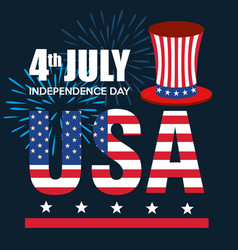 Usa independence day with hat vector