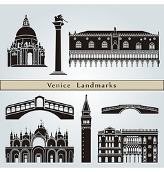 Venice landmarks and monuments vector