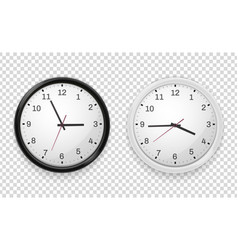 Wall office clock set contemporary business vector
