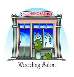 wedding salon buildingmarriage ceremony structure vector image