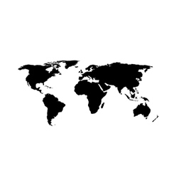 World map isolated on white background vector image