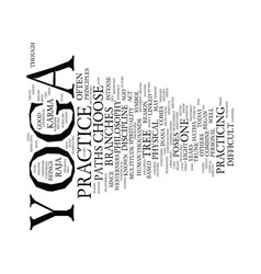 Yoga paths text background word cloud concept vector