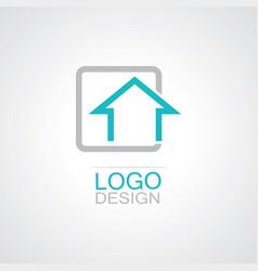 square home logo vector image