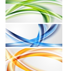 Abstract waves banners vector image vector image