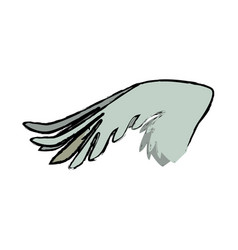 drawing wing feather animal icon vector image